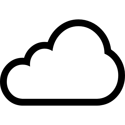 Icon Cloud Outline Download