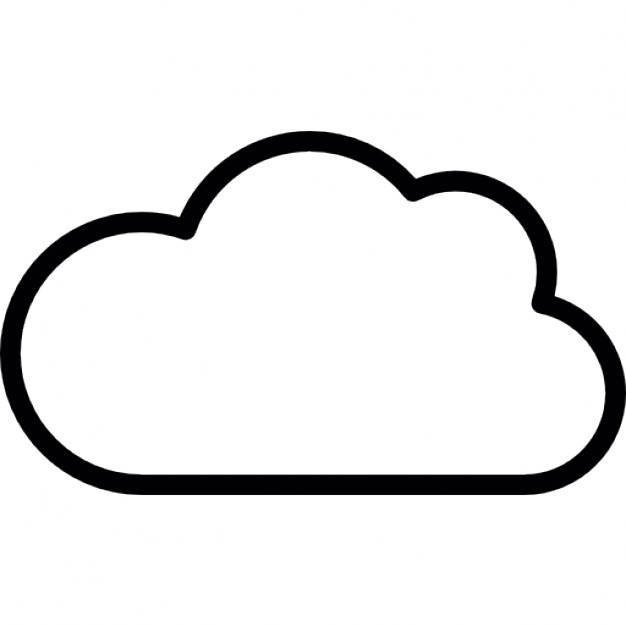 Icon Cloud Outline Library
