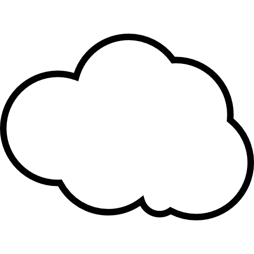 Vector Cloud Outline Png