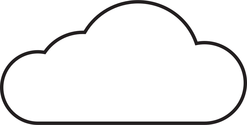 Vector Cloud Outline Drawing image #22287