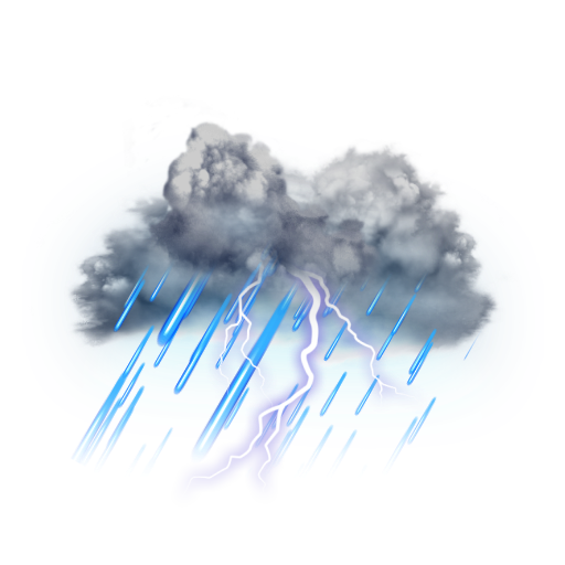 Clouds and Lightning Effects PNG