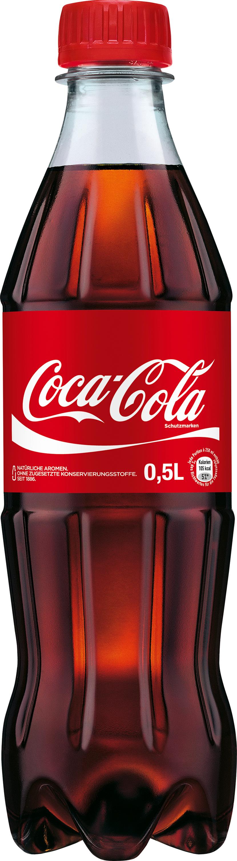 Coca Cola Flasche PET 0 5l Einweg png
