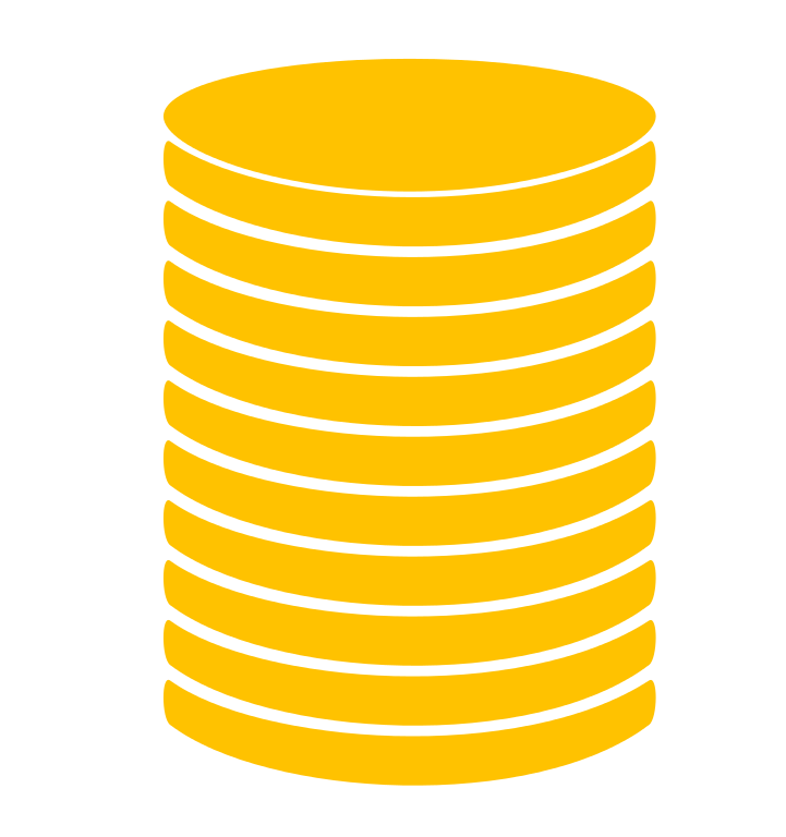 Coin stack icon GOLD