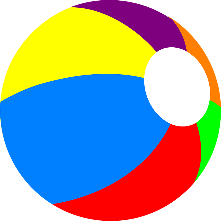 Colorful Beach Ball Png image #41207