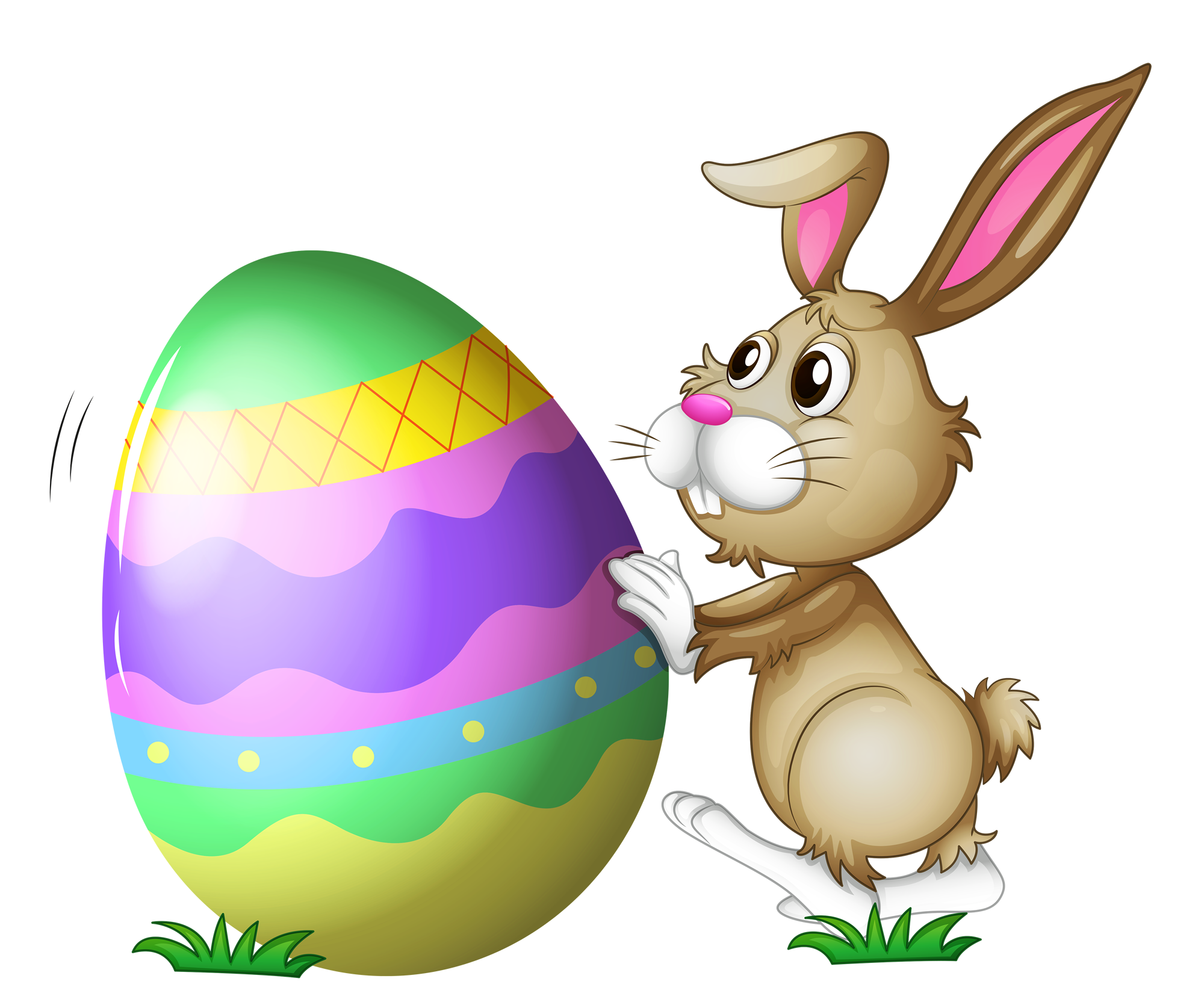 Colorful Easter With Bunny Png image #46565