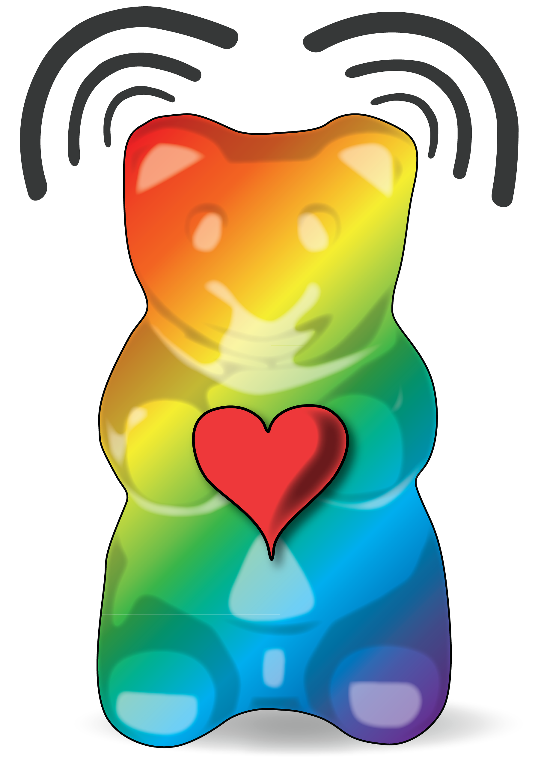 colorful gummy bear png