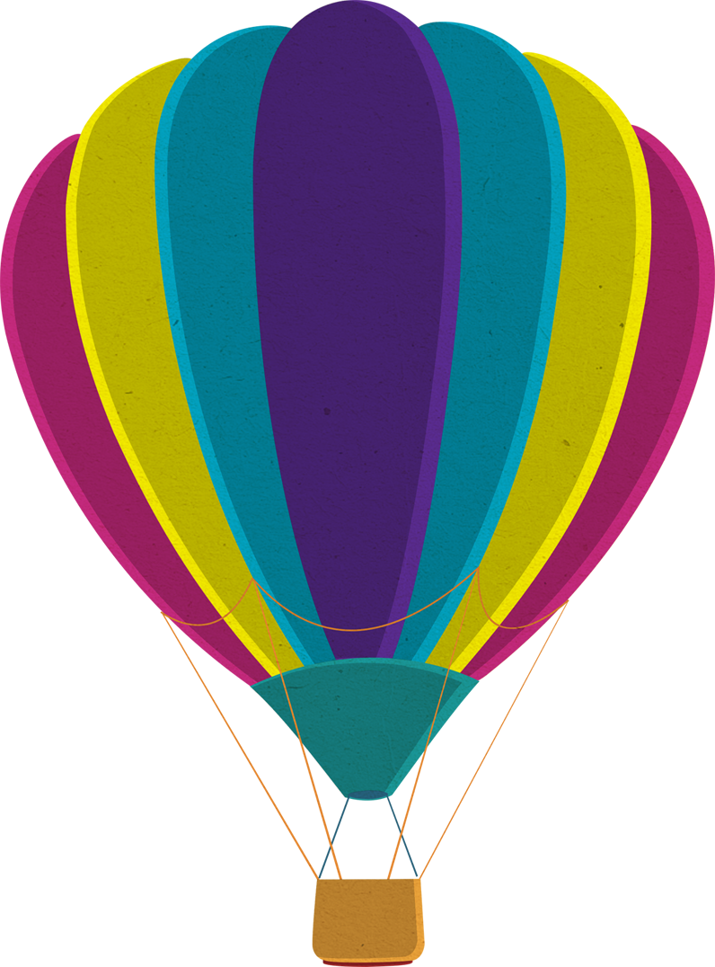 Colorful Hot Air Balloon Transparent Background image #46782