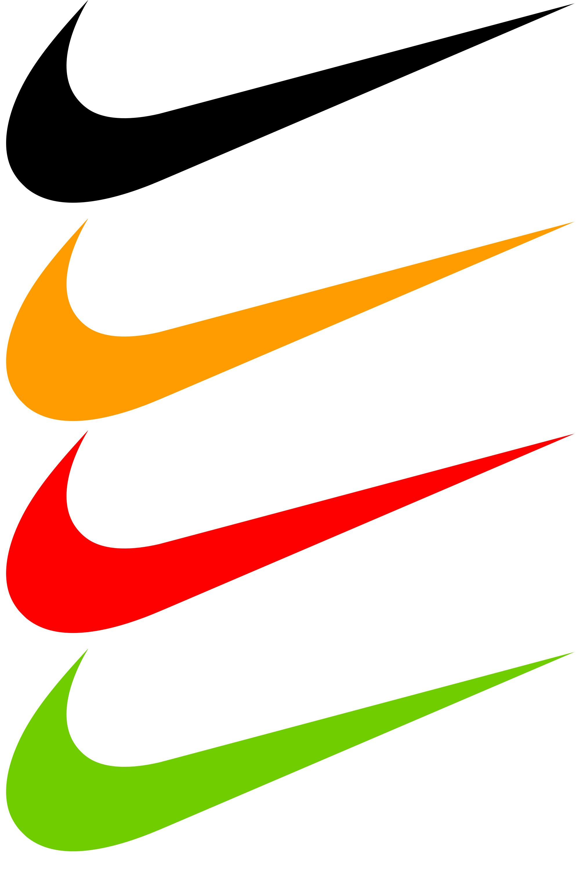 colorful nike shoes logo transparent
