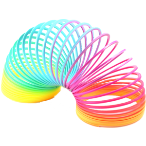 Colorful Slinky Art Png image #43486