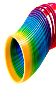 Colorful Slinky Png image #43477