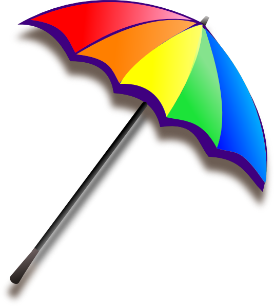 Colorful umbrella png