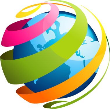 colorful world icon