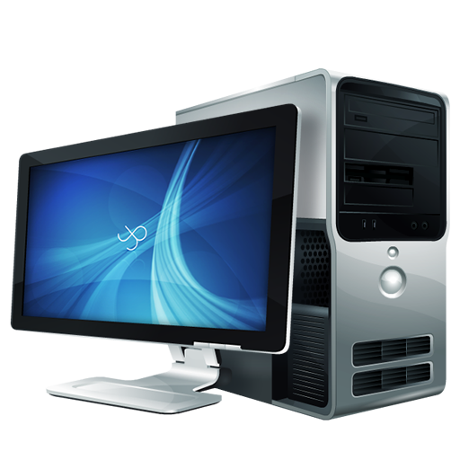 Computer case with Monitor png