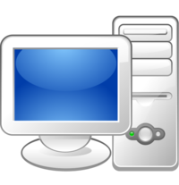 Computer User Vector Icon image #16402