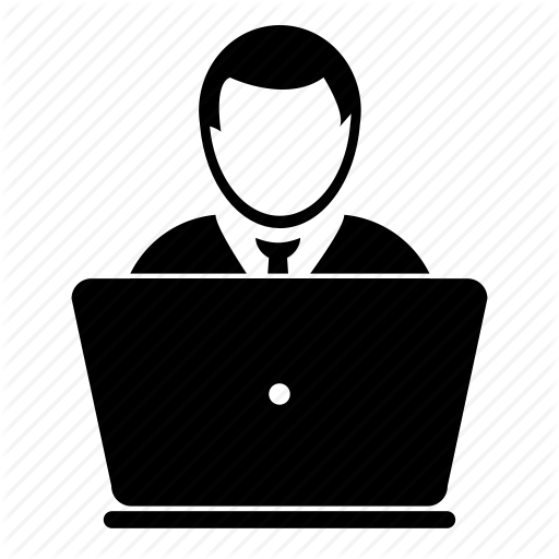 Computer User Icon Svg image #16405