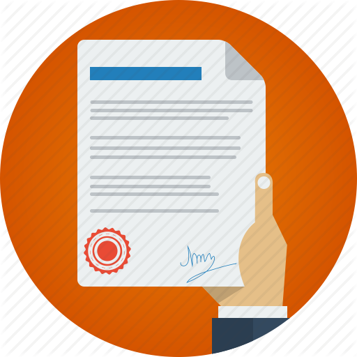 Contract Icon Vector image #19923
