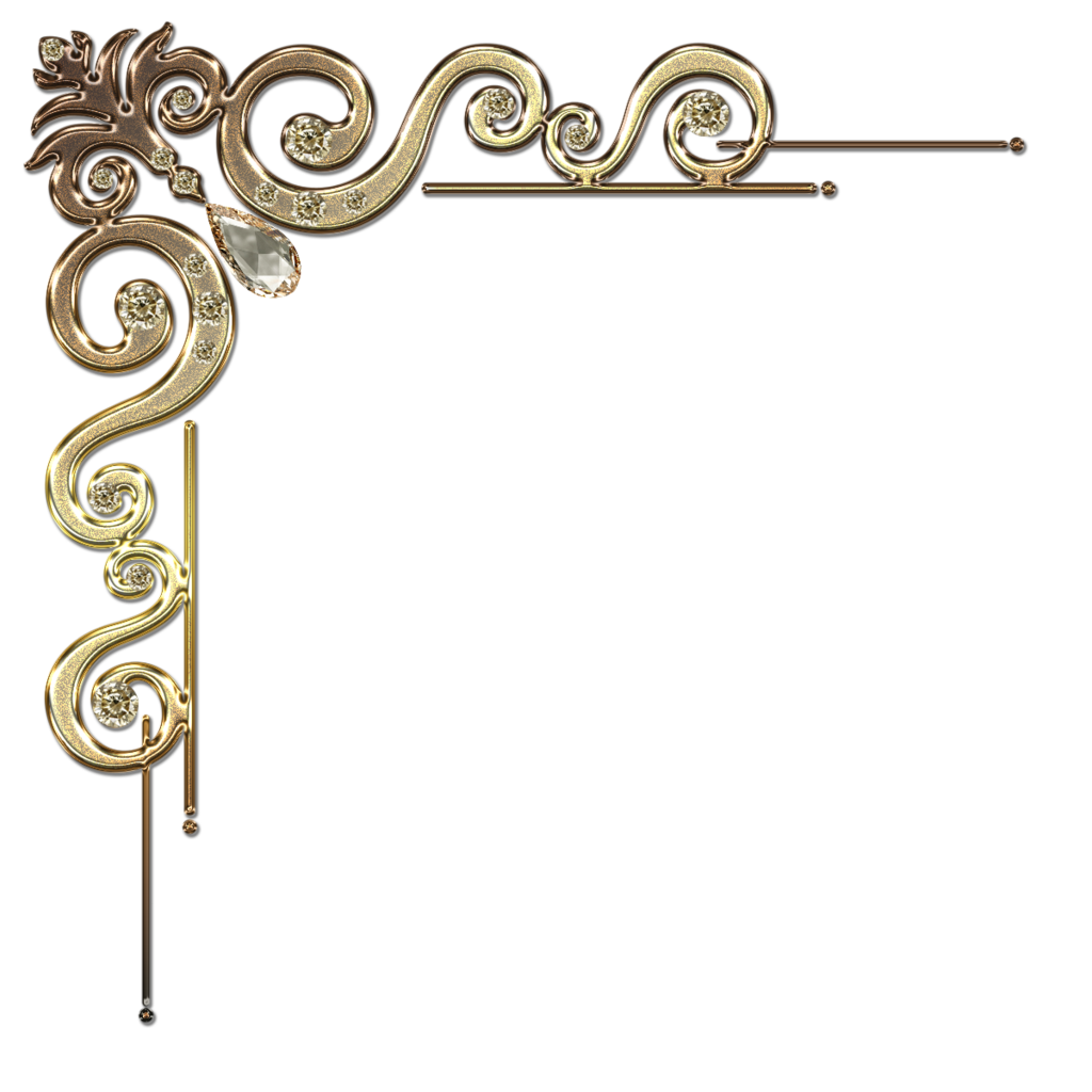 Download And Use Corner Ornament Png Clipart image #27858