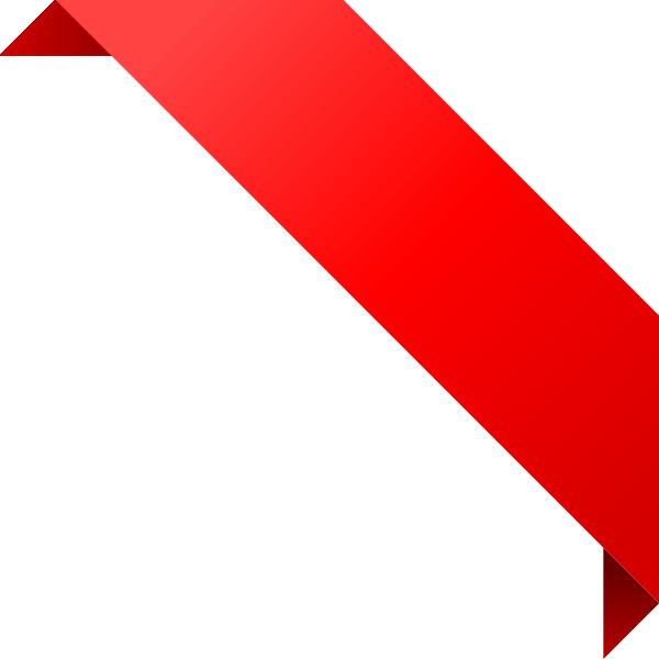 CORNER RIBBON02 RED Vector Data | SVG(VECTOR):Public Domain | ICON