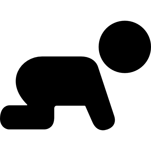 Crawling Baby Silhouette Icon image #19076