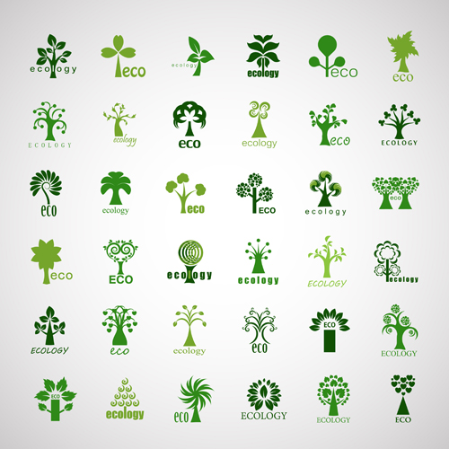Creative Ecology Tree Icons Vector   Plant Icons Free Download image #1547