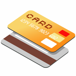 Credit Card Orange Icon Png image #4402