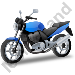 Cruiser Motorcycle Blue Icon image #2703
