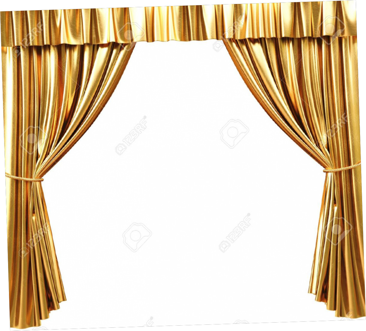 Curtain Gold Stage, Window Treatment Frame Picture image #48918