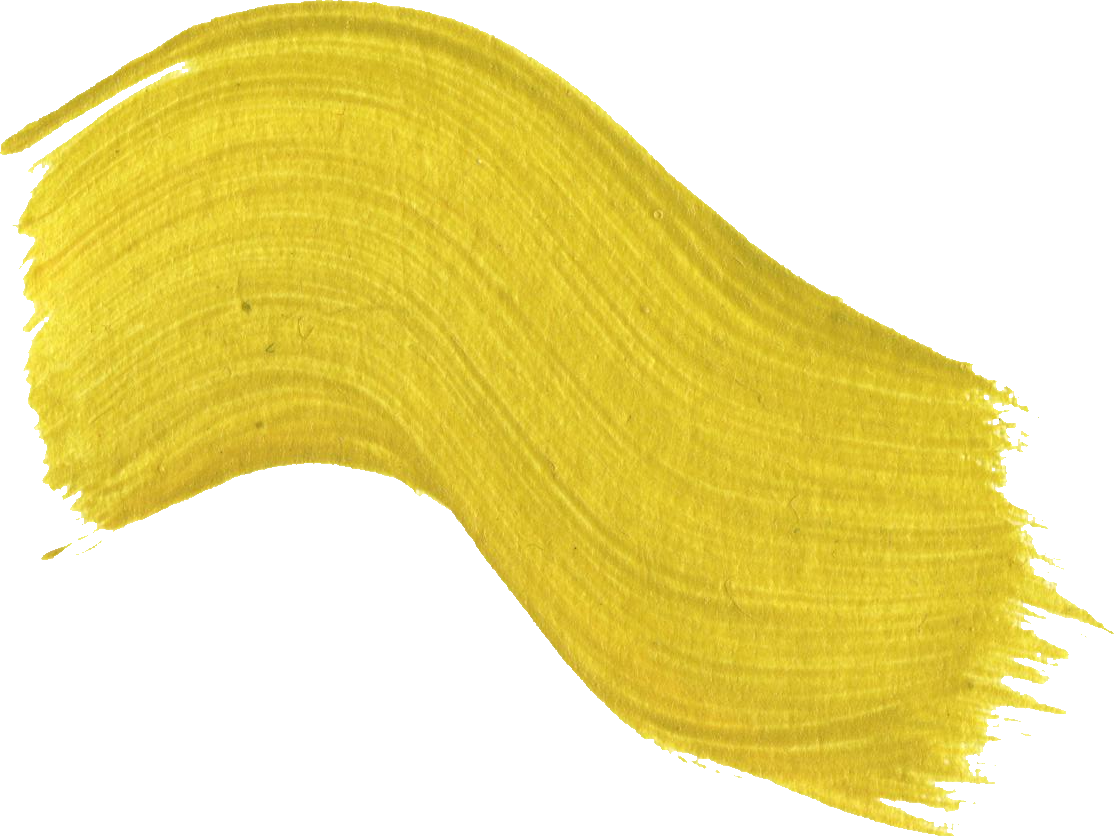Curved Brush Stroke Ocher PNG HD