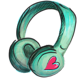 Cute Headphone Icon Png image #32285