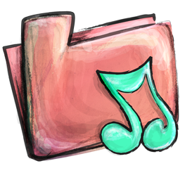 Cute Music Folder Icon Png image #32305