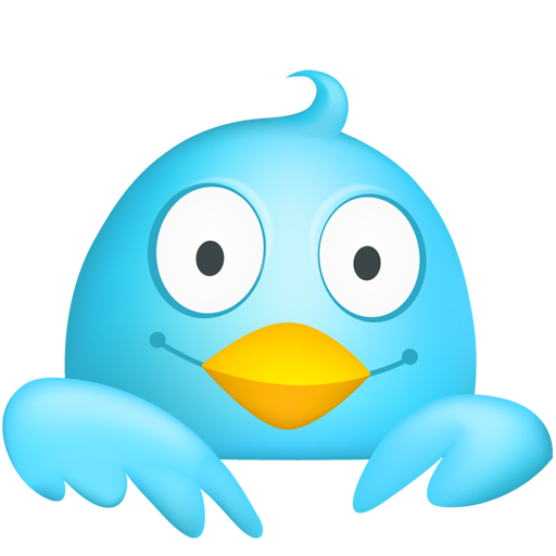 Cute Twitter Icon Png image #32297