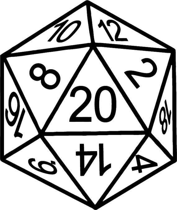 D20 Drawing Icon