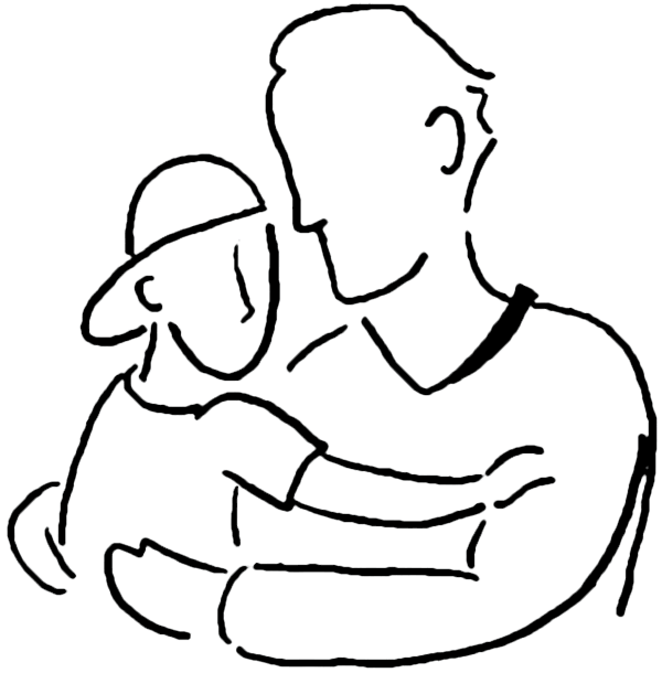 Dad, Father And Son Clipart Png image #42620