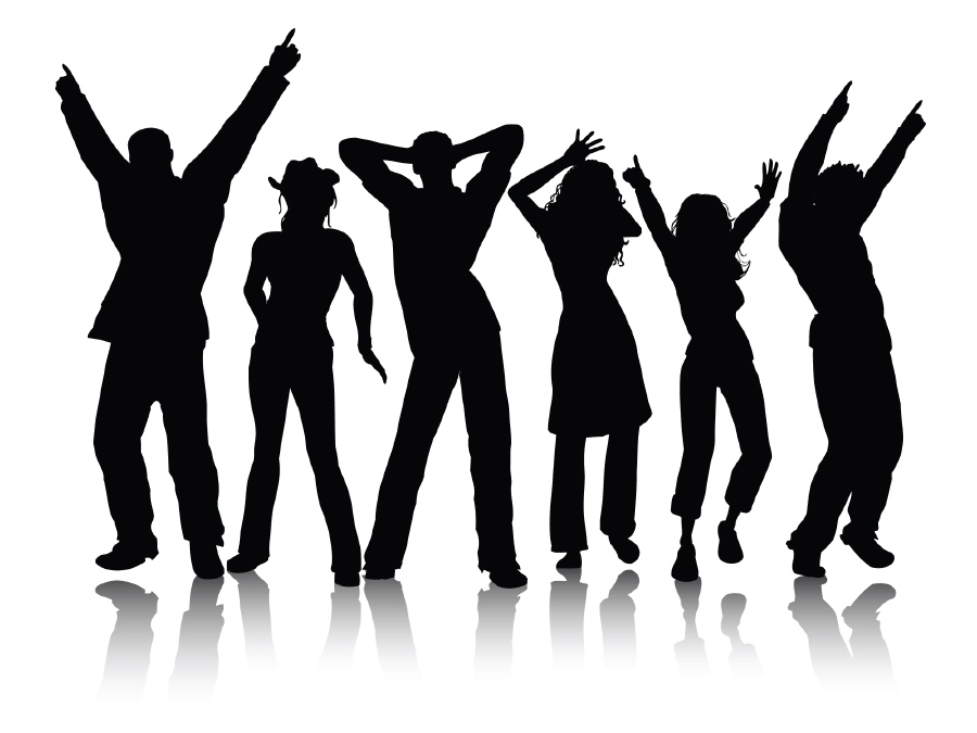 Vector Dancing Silhouette  Free Download image #16057