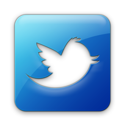 Dark Blue, Square, Logo, Twitter