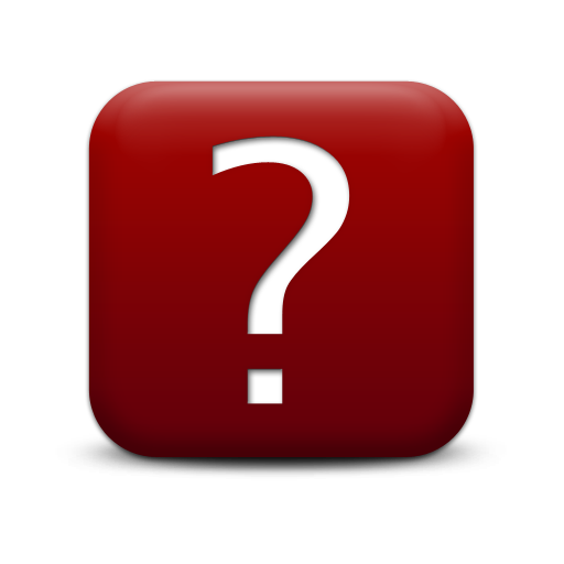 Dark Red Question Mark Icon image #41643