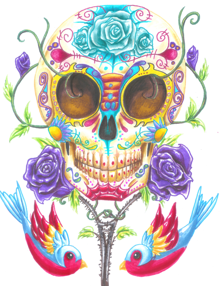 Day Of Dead Background Transparent image #28658