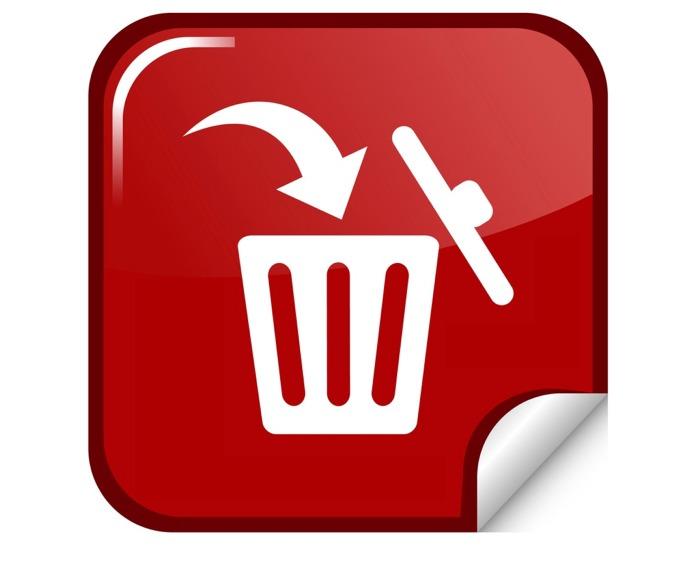 Delete icon with trash bin - 3d blue button. |Delete Trash Button Icon