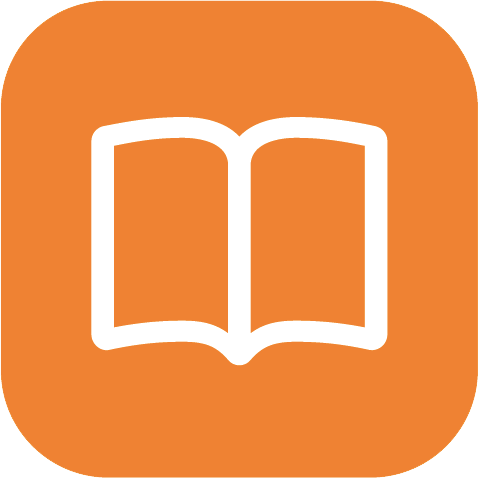 Description Book Icon Orange image #160