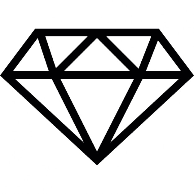 Download Free High quality Diamond Outline Png Transparent Images