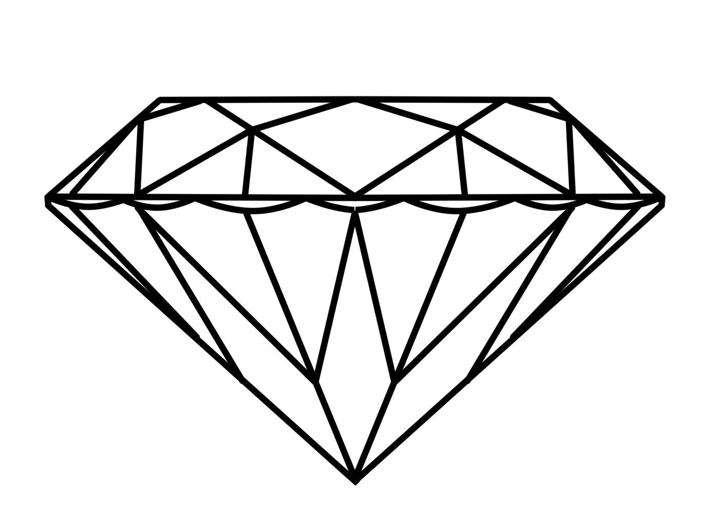 Diamond Outline Transparent PNG Pictures