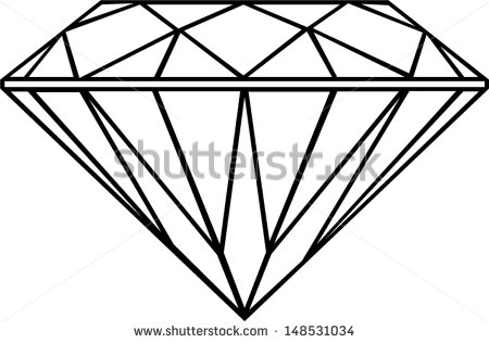 Download Free High-quality Diamond Outline Png Transparent Images