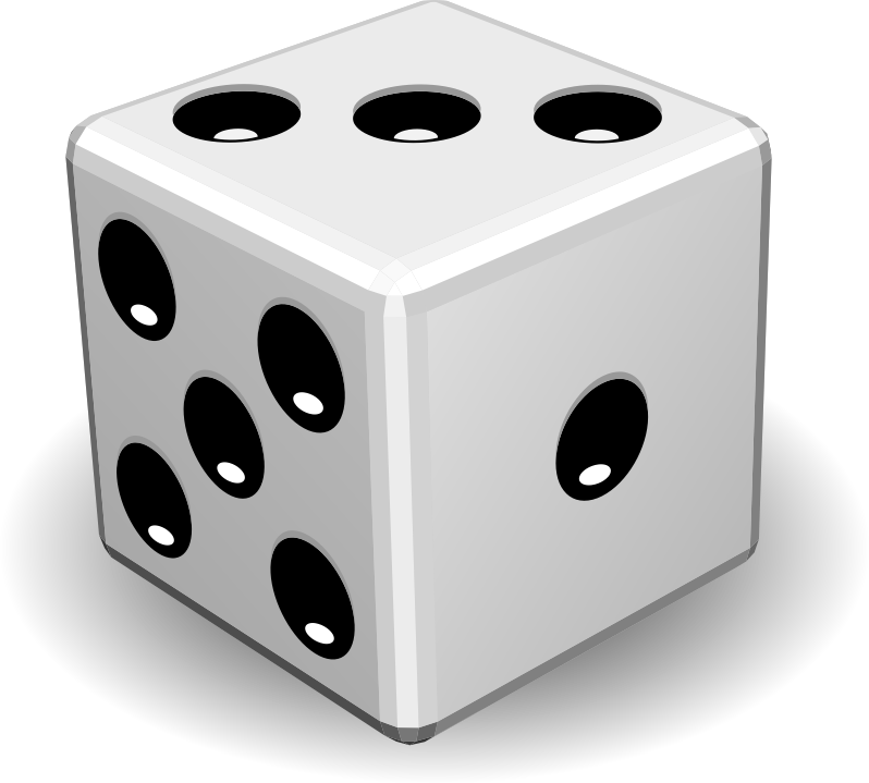 Dice 5, 3, 1 Png image #27656
