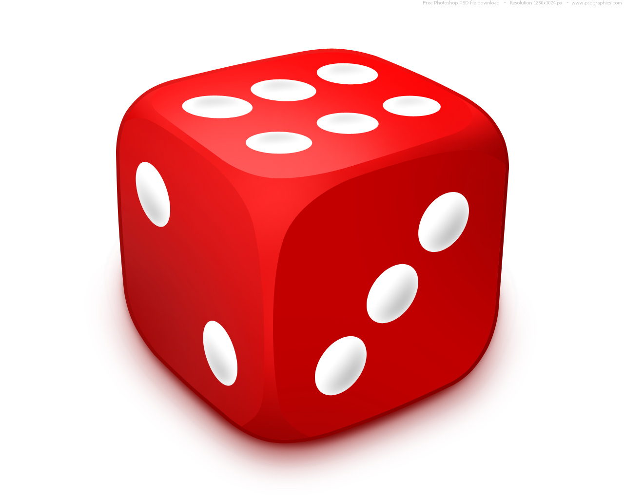3d Red Dice Png image #27646