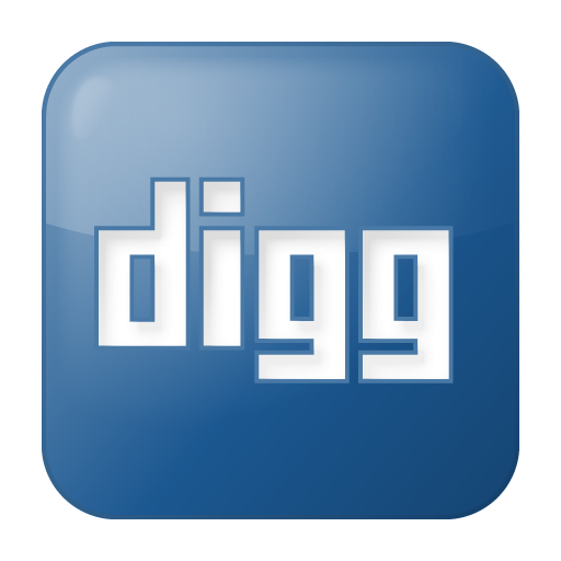 Digg Blue Icon image #25920