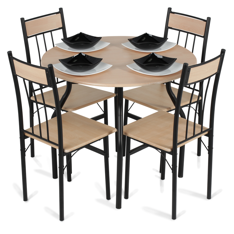 Dining set table with 4 chairs png