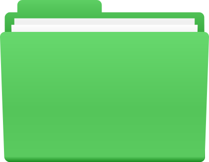 Directory Folder Icon Green image #12409
