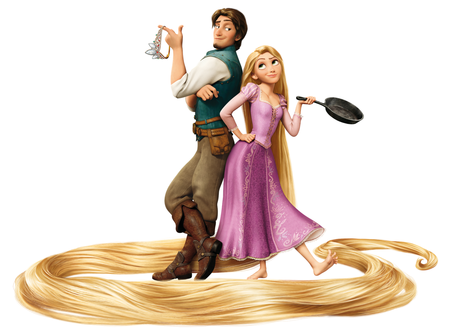 Disney Flynn and Rapunzel png