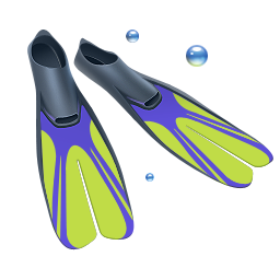Diving, Fins, Scuba Icon  image #10962