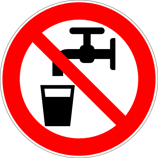 Do Not Drink Water Sign Icon image #20448
